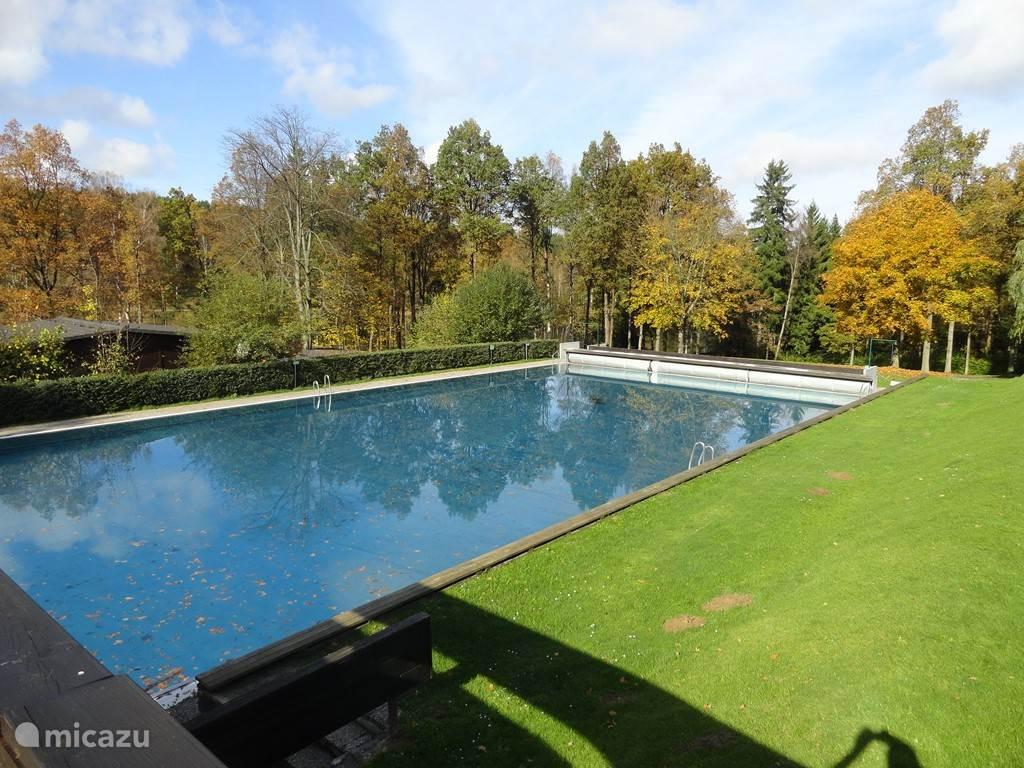 Mooi zwembad om heerlijk in te zwemmen (foto herfst)