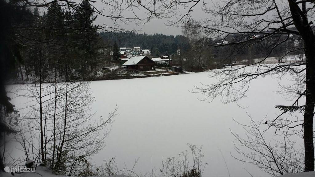 A glance over the Herrensee towards the village of Litschau