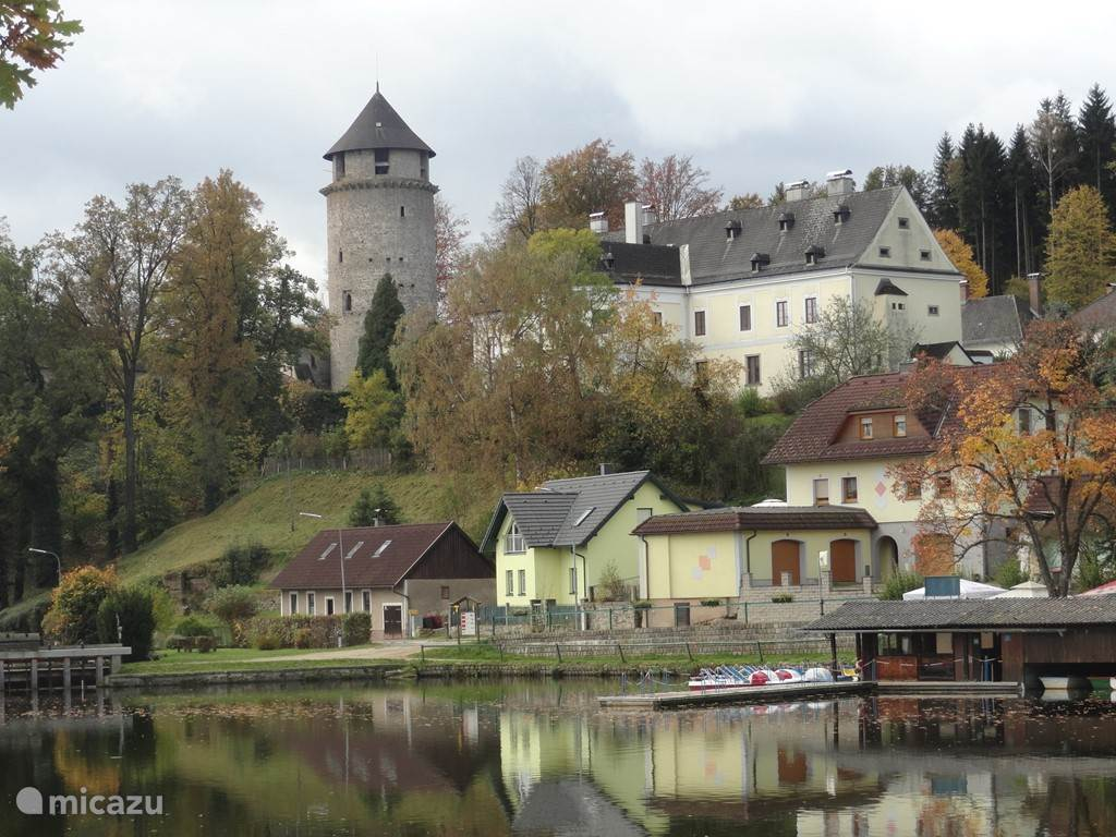 Litschau gelegen aan het meer