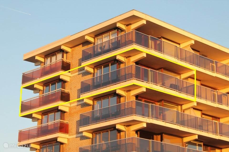 Top appartement op toplocatie in Zanvoort, 5 etage, 3 kanten zeezicht