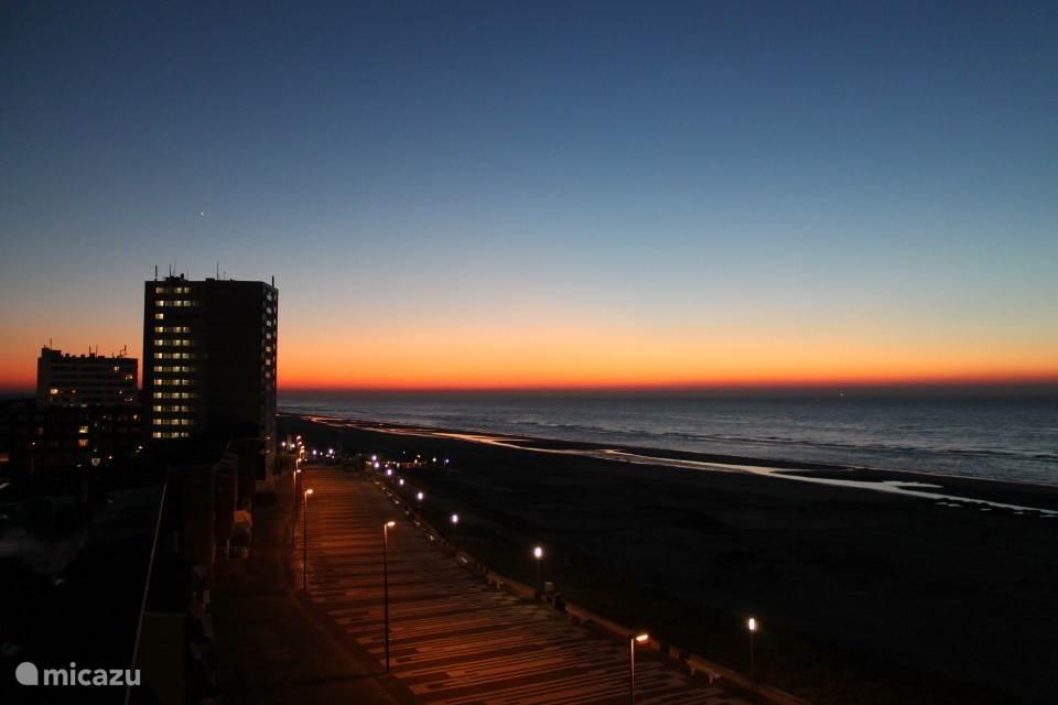 S'avonds een zonsondergang prachtig te bewonderen