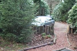 De auto altijd voor het huis parkeren