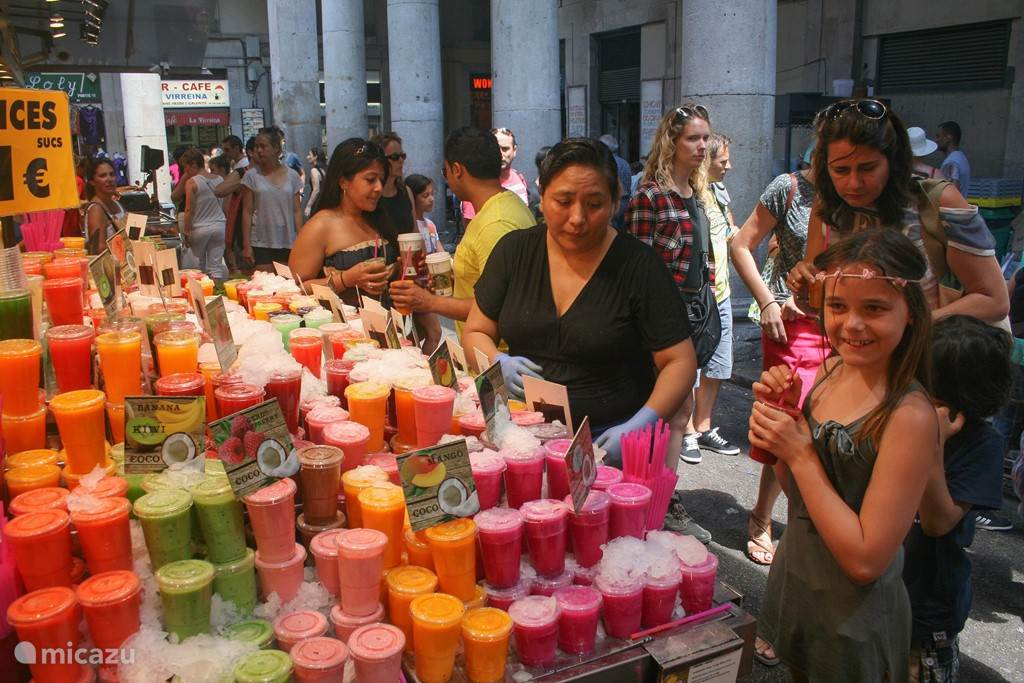 Mercat de la Boqueria; de versmarkt aan de Rambla van Barcelona