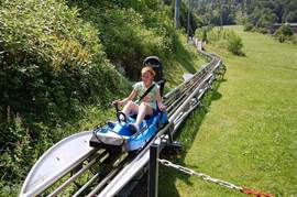 A wonderful getaway for the children ... and for adults. The rollercoaster Tschagguns takes you on a parcours of 2.7 km at high speed down.