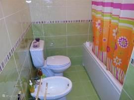 Toilet met bubbelbad