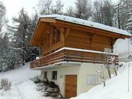 's Winters kan de auto in de garage. En daar kan die de hele week blijven want de skibus stopt voor de deur.