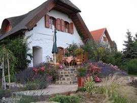 Front terrace, with views of Lake Balaton