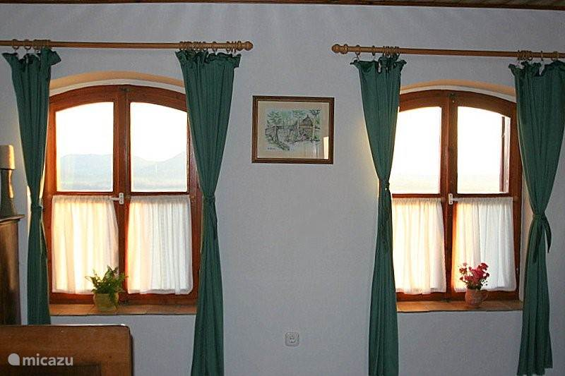 front bedroom with a 2 bed with views of Lake Balaton