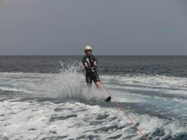 Water skiing an the sunny South Coast