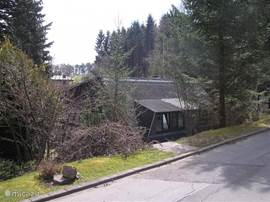 Our bungalow nestled on the edge of the forest and valley.