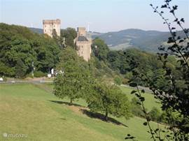 the castle with the wolf and eagle park in the immediate vicinity of Gerolstein