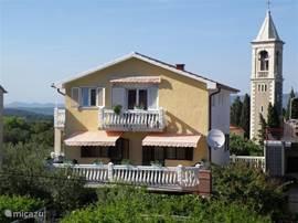 Achterzijde van het huis