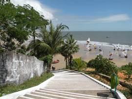 de trap naar het strand, op 2 min. loopafstand