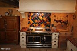 View of the great Cornu Stove in the kitchen
