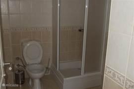 Deze badkamer is en suite aan de master bedroom.