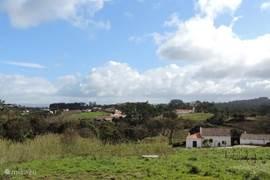 Het uitzicht vanaf het terras van Casa Limão Vista.