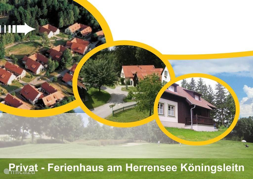 Vakantiepark Königsleitn met deel van toegangsweg naar ons huis.