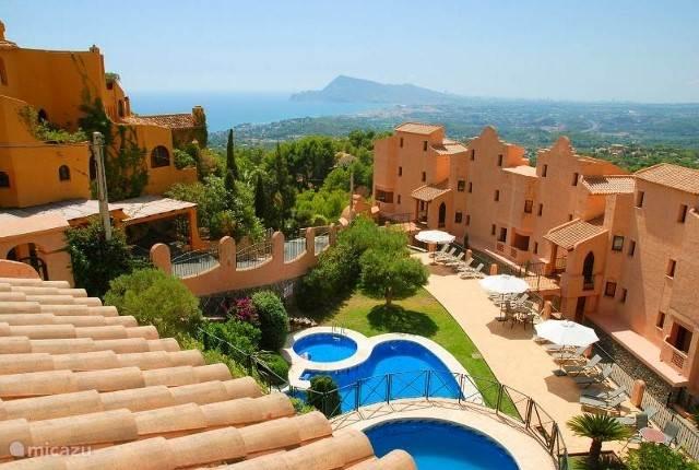 uitzicht over de Mediterranée