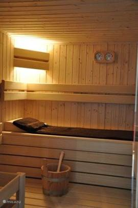 sauna available during the entire period of stay