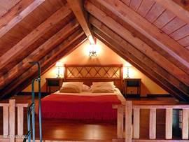 Casa El Almendro heeft zijn slaapgedeelte in de loft.