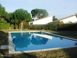 Heerlijk openlucht zwembad met douche omringt door een lekkere ligweide van 2000m2.