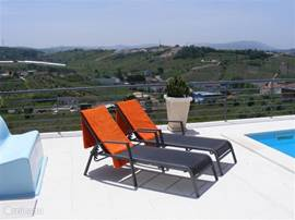 Casa Ceedina terras en uitzicht