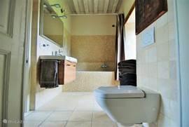 een van de 5 badkamers, 2 ervan zijn met ligbad, 4 ervan met toilet
