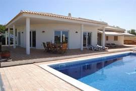 villa gezien vanaf tuin-zwembad