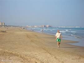 Het grote strand van Valencia