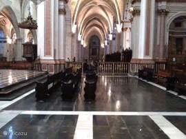 In de kathedraal van Valencia