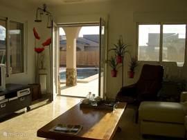 Het zicht van uit de woonkamer