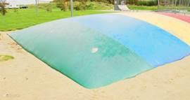De air trampoline is een van de grote favorieten
