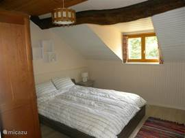 1 bedroom with double bed and dormer