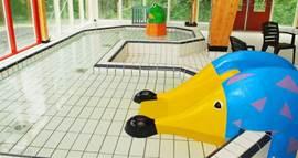 De kleine kinderen kunnen zich ook uitleven in het zwembad.