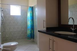 The apartment is equipped with a spacious bathroom / shower.