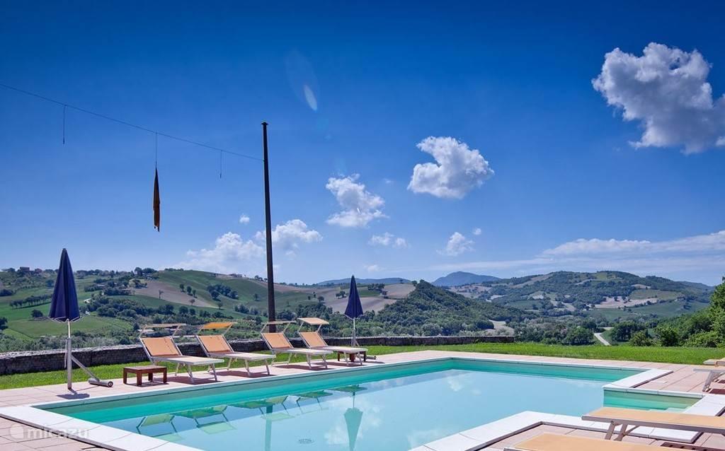 uitzicht vanaf zwembadterras