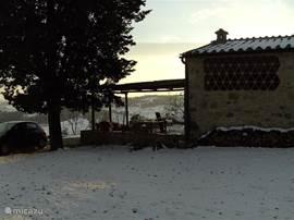 Maar doorgaans blijft de sneeuw niet weken lang liggen.