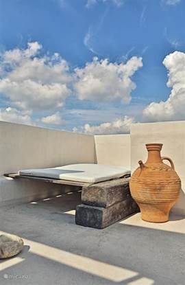 top roof terrace with private sun loungers