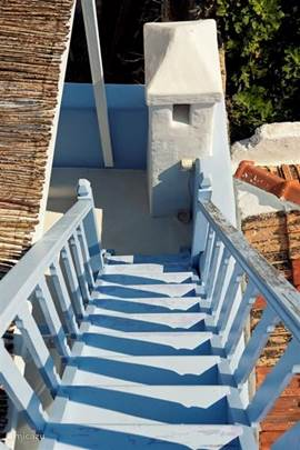 stairs going to the top roof terrace