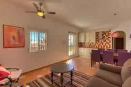 Woonkamer appartement Papaya