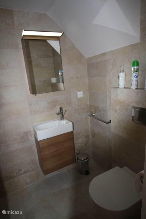 geheel nieuwe kleinere badkamer met inloopdouche