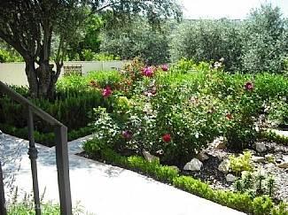 prachtig aangelegde tuin