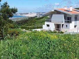 Nieuwe 3 slaapkamer villa met prachtig zeezicht. De villa is rustig gelegen in Serra da Pescaria op slechts enkele minuten van de mooie badstadjes Nazare en Sao Martinho do Porto, vlakbij het prachtige strand Salgado Beach.