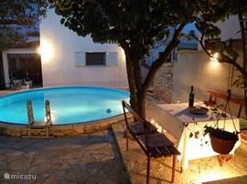 Het zwembad in de tuin