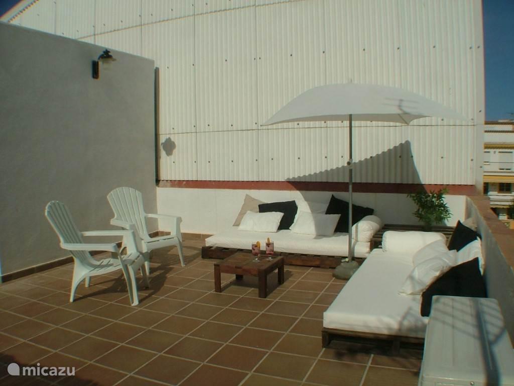Relax-hoek op het dakterras