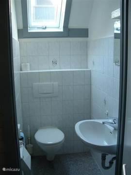 Toilet met wasbakje.