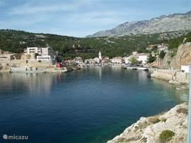 De haven van Jablanac aan de Adriatische kust