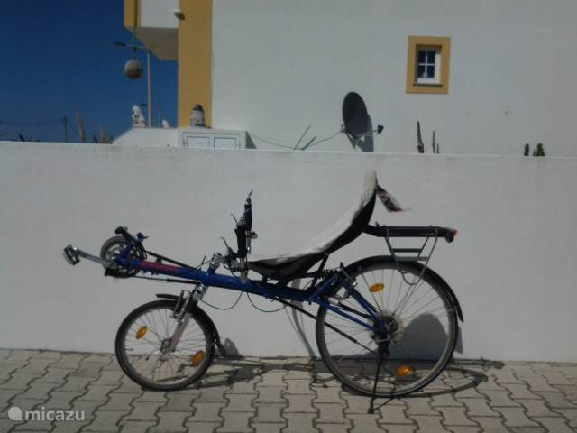 ligfiets,echt een eyecather in Portugal