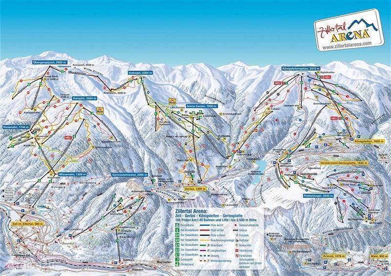 Skigebied Zillertal Arena