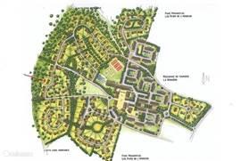 De plattegrond geeft u een overzicht van het villapark en de locatie van de villa op het park. Deze is met een rode pijl aangegeven.